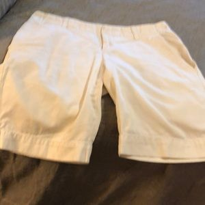 Ladies white long shorts